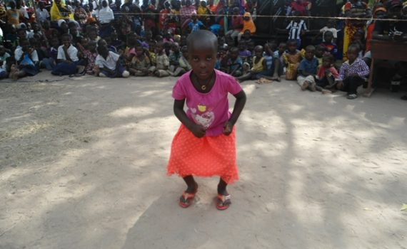 Young girl at Primary School graduation